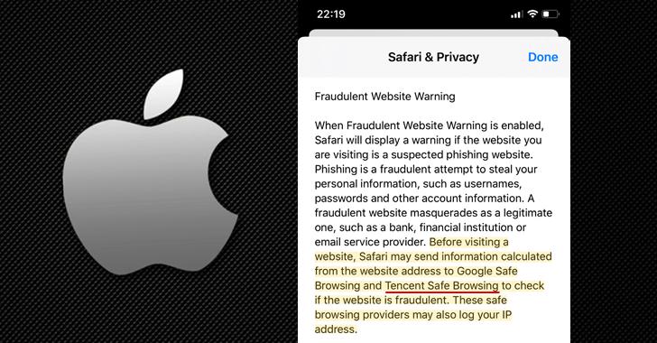 apple safari safebrowsing tencent