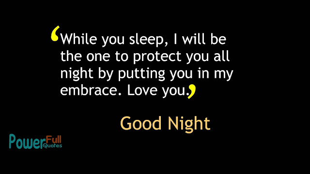 Good night Quotes for Lover