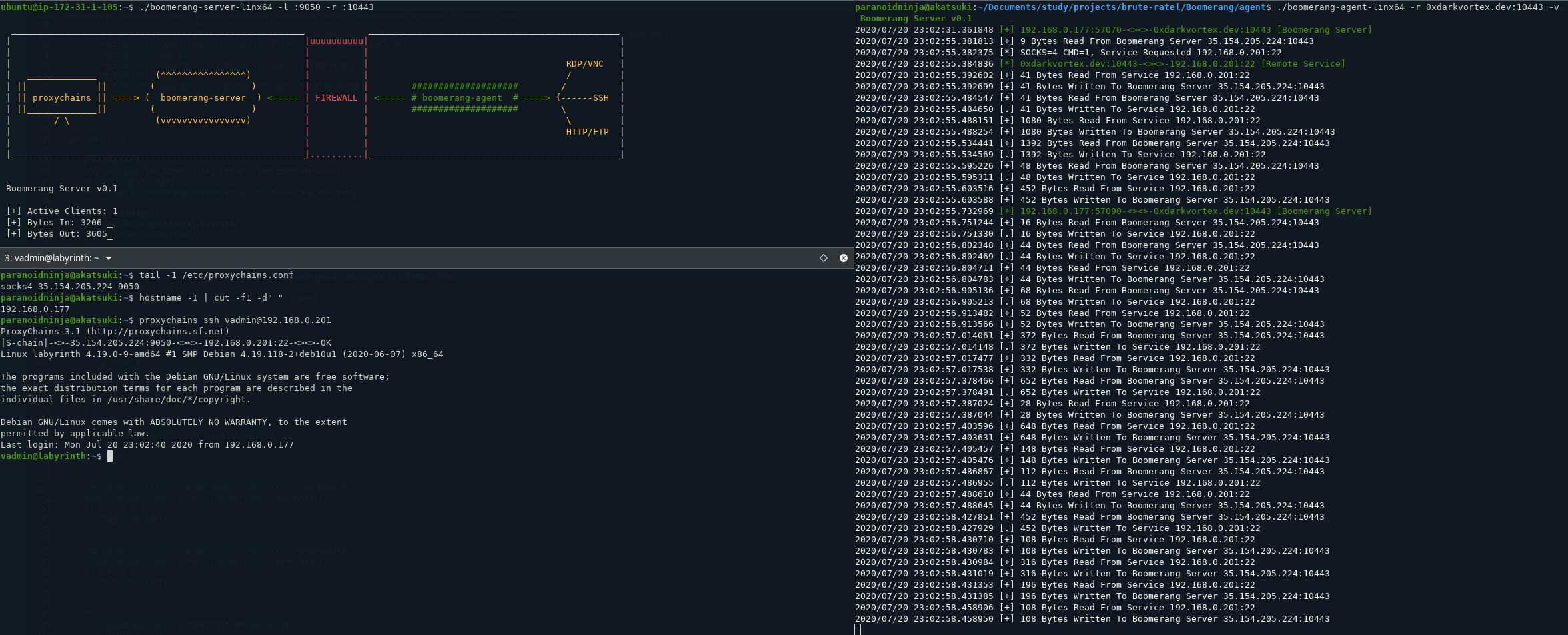 Boomerang - expose multiple internal servers to web/cloud