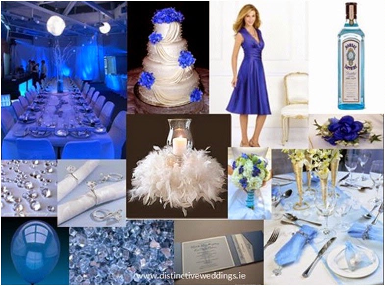 White And Silver Wedding Theme: Royal Blue Silver White Wedding Decorations