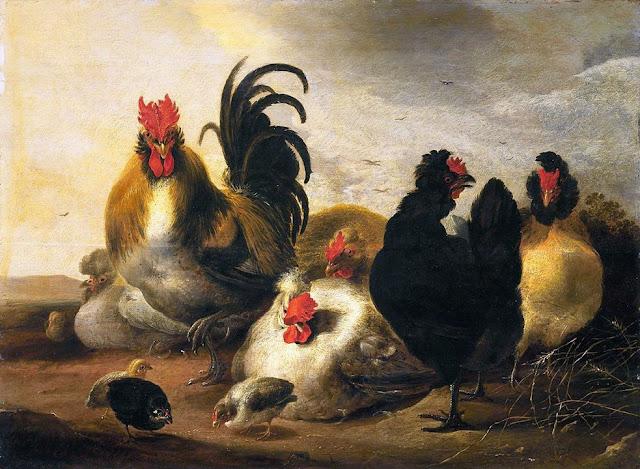 Альберт Кёйп - Птичий двор. 1651