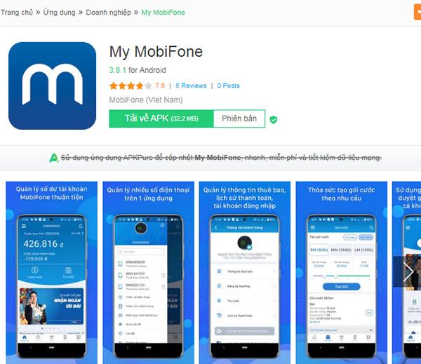 Tải My MobiFone - Ứng dụng tra cứu thông tin tài khoản MobiFone miễn phí c