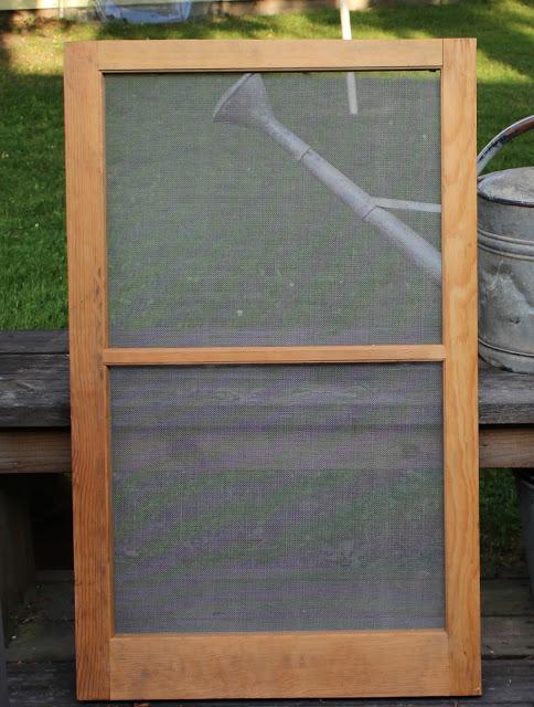 how to make window screens wood