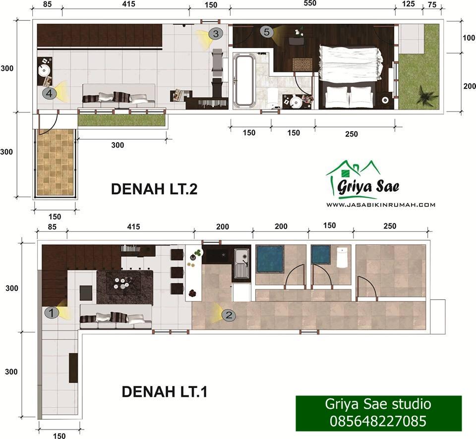 Desain Interior Lebar 3 Meter Jasa Bikin Rumahcom