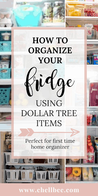 Fridge organization dollar store | Learn how to organize your fridge only using items from the Dollar Tree. These tips are perfect for women looking to save money, get organized, and reduce food waste. fridge organizaton | organization hacks | organization ideas | organized fridge | organisation #lifehacking #kitchenorganization #homemakingtips #homeorganization