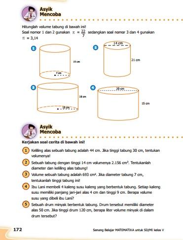 kunci jawaban buku senang belajar matematika kelas 5 kurikulum 2013 revisi 2018
