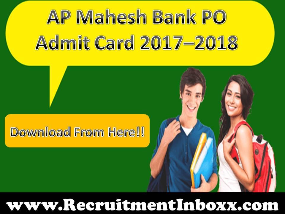 AP Mahesh Bank PO Admit Card