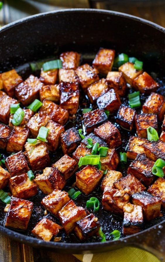 Asian Garlic Tofu - Asian Garlic Tofu is a vegetarian meal full of salty, sweet, and spicy flavor.