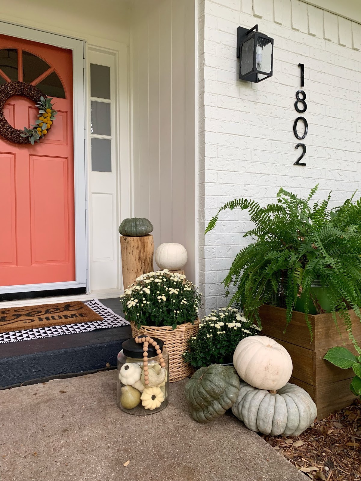Something different late fall home tour painted fall porch | House Homemade
