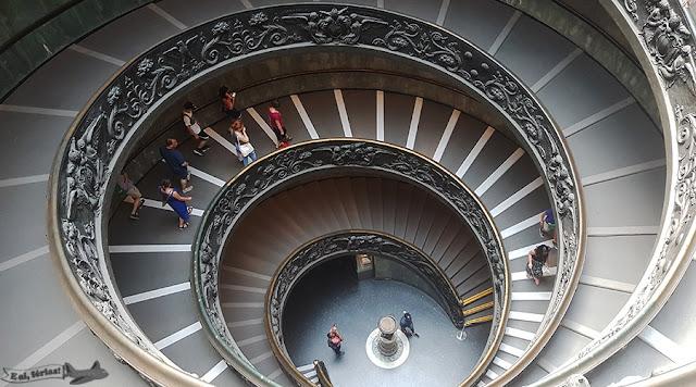 Escada Espiral, Escada Helicoidal, Giuseppe Momo, Museus Vaticanos, Vatican Museum, Vaticano