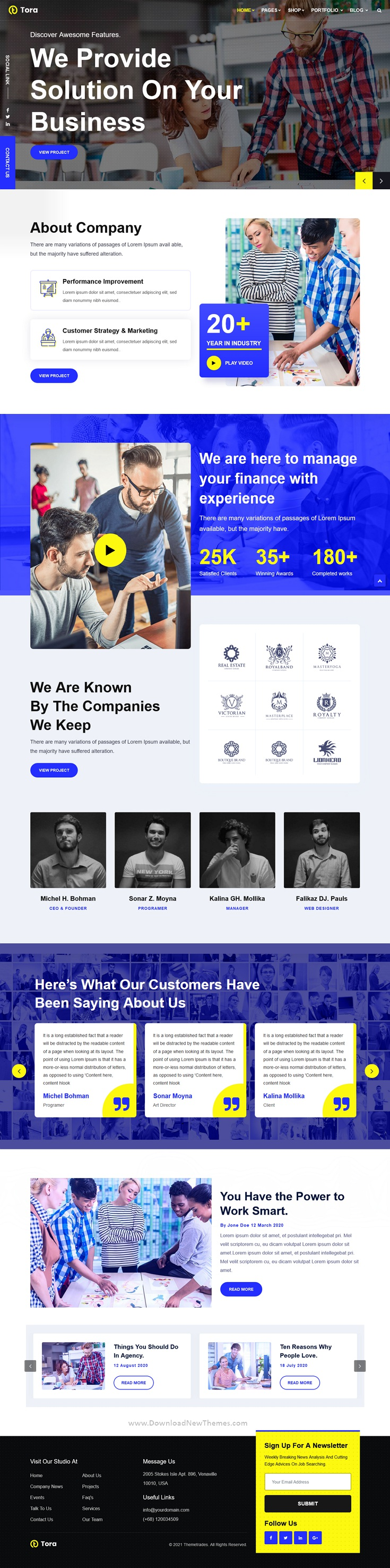 Business Agency Multipurpose Bootstrap Template