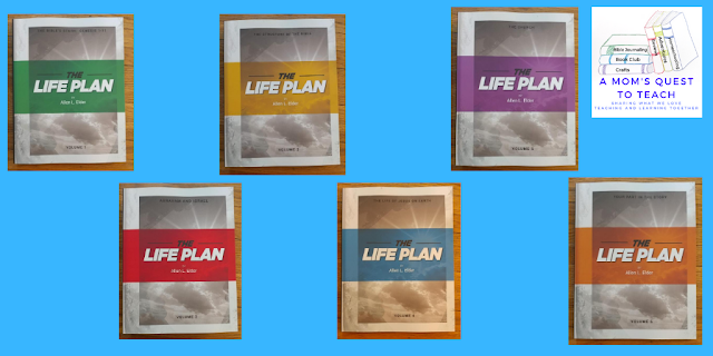 covers of The LIFE Plan volumes 1-6; logo for A Mom's Quest to Teach