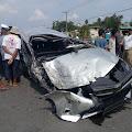 Tiga Mobil Terlibat Kecelakaan Beruntun di Km.7 Jalan Lintas Tebo - Bungo