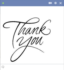 Thank You Facebook Emoticon