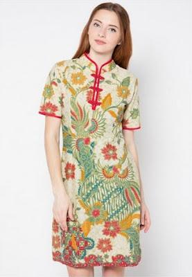 Model baju batik pekalongan desain baru untuk wanita