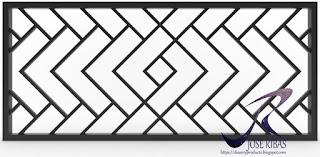 Diseño y fabricación de reja decorativa.