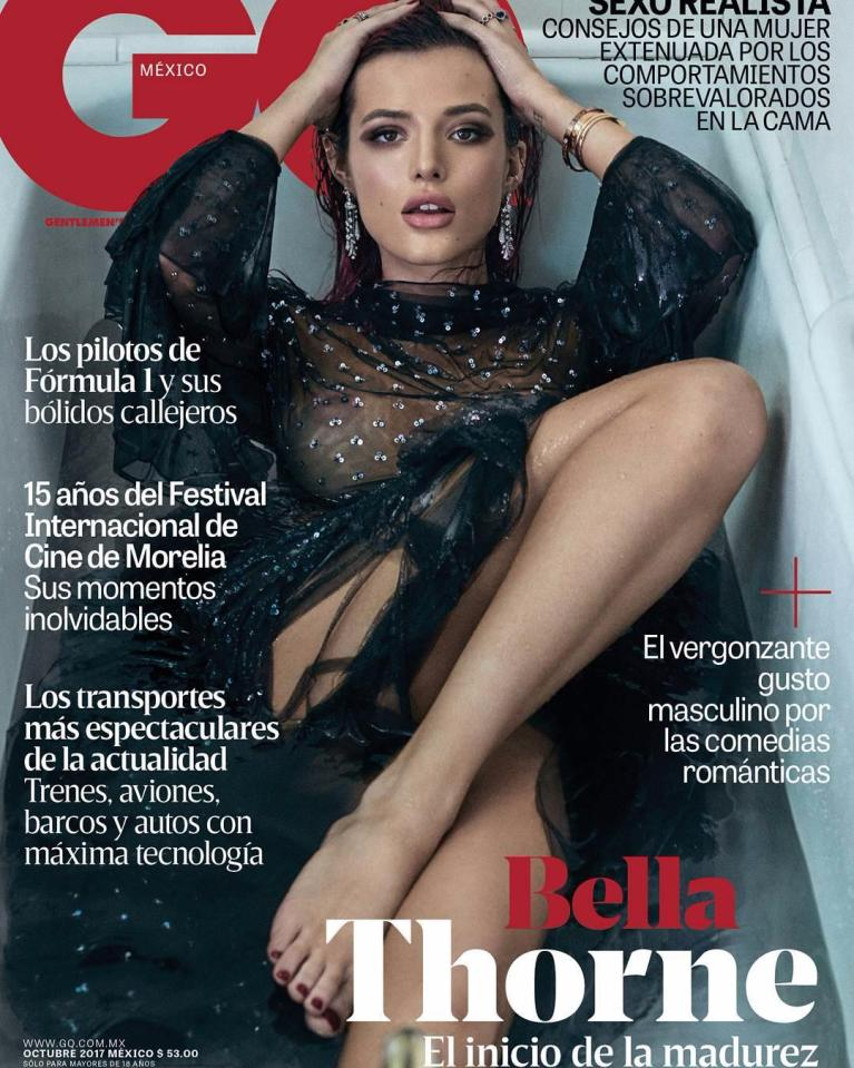 Bella Thorne semidesnuda para GQ México 0
