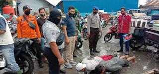 Warga yang Terjaring Ops Yustisi Polres Pelabuhan Dihukum Push Up dan Denda