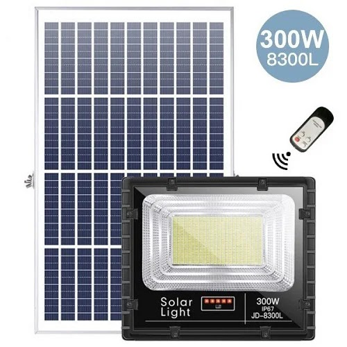 Đèn Năng Lượng Mặt Trời JD-8300L 300W