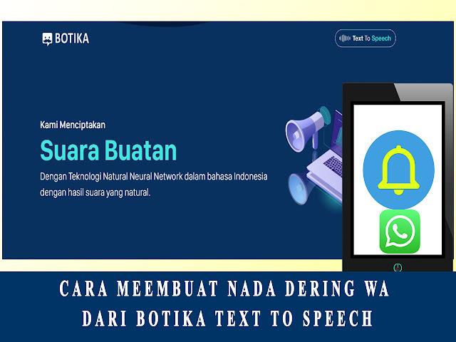 cara membuat nada dering dari botika text to speech
