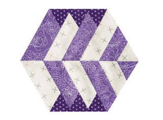 hexagon block with interwoven stripes