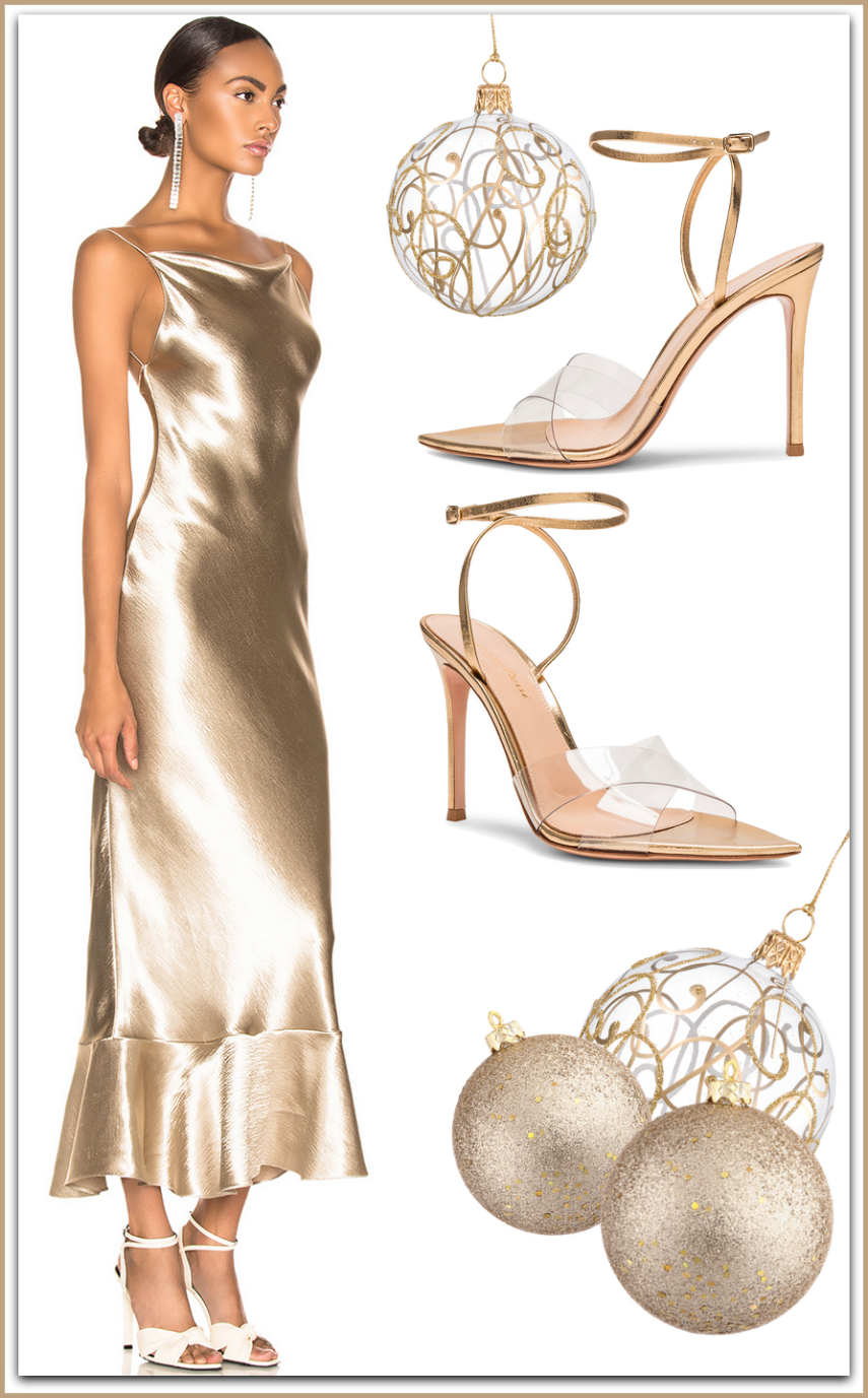 SALONI  Stella Dress shown in White Gold