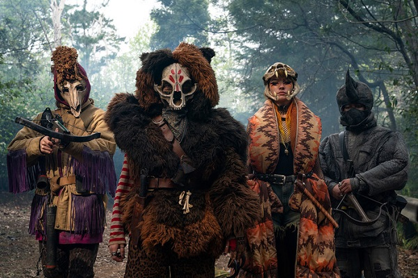 The Animal Army - four people in stylised animal costumes