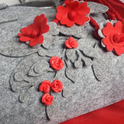 borsa feltro pannolenci pasta polimerica decorazione alberta bijoux