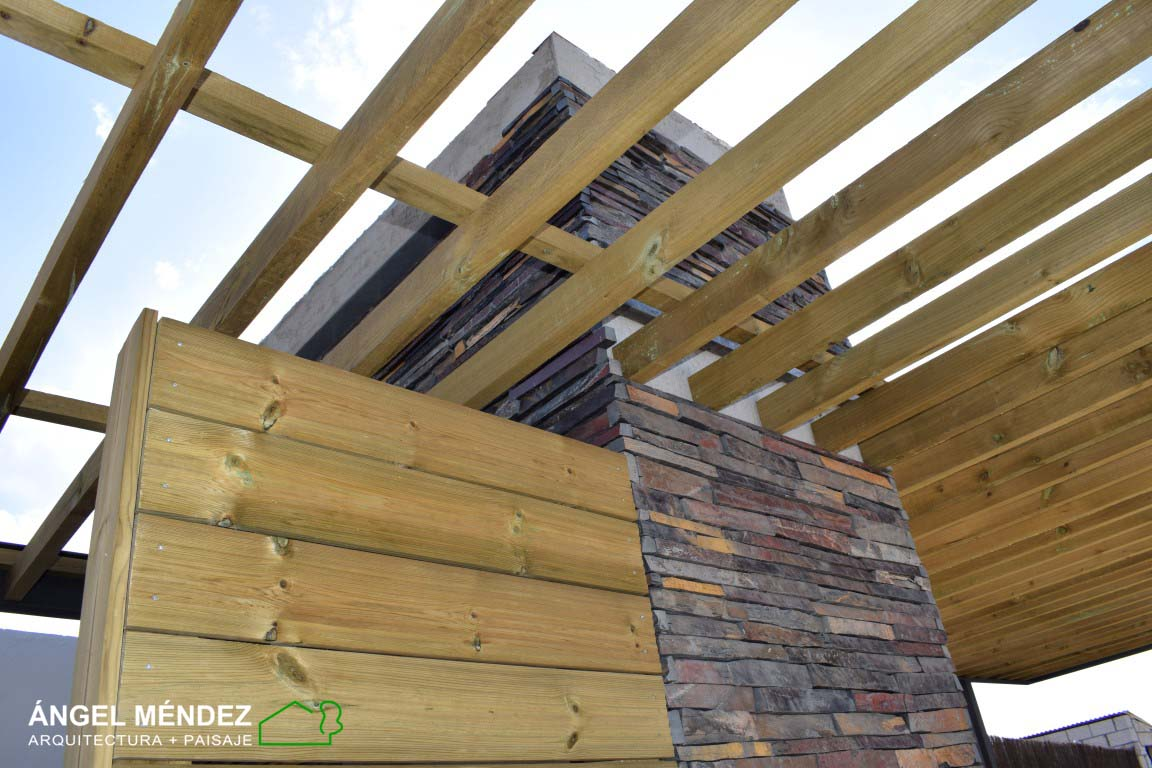 Maderas para jardines, Maderas para paisajismo, Vigas de madera, Pérgolas de madera, Diseño jardines con madera, Paisajistas España, Diseño jardines online