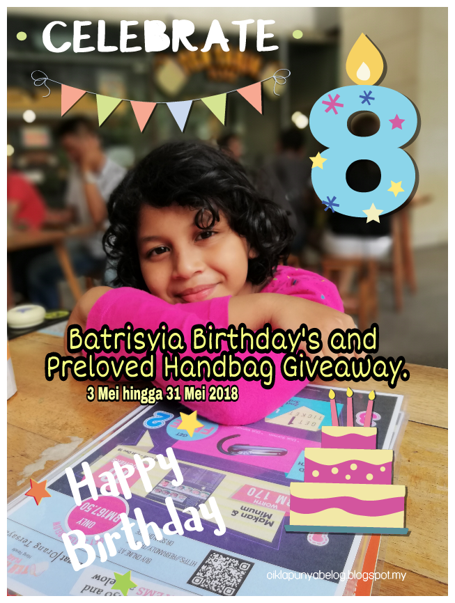 Batrisyia Birthday and Preloved Handbag Giveaway.