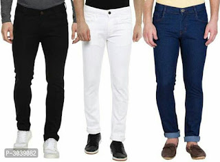 Pack of 3 Cotton Spandex Regular Fit Jeans