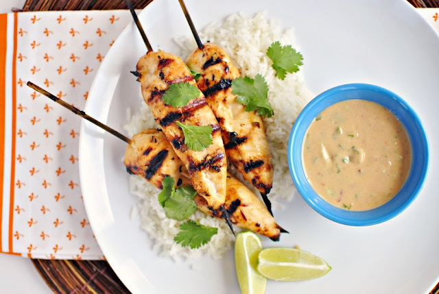 Chicken Satays with Peanut Sauce Recipe