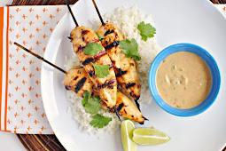 Chicken Satays with Peanut Sauce Recipe