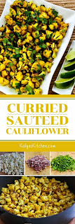 Curried Sauteed Cauliflower found on KalynsKitchen.com
