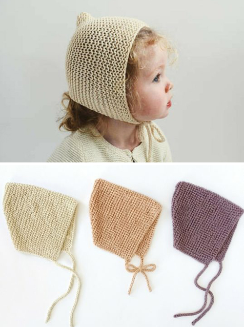 Garter Bonnet - Free Knitting Pattern