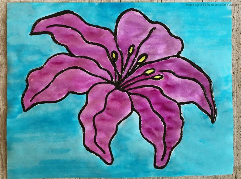 Georgia O'Keeffe flower painting art for kids