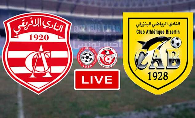 Match Club Africain vs Club Athlétique Bizertin Live Stream