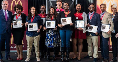 McDonald's Black and Positively Golden Scholarship recipients
