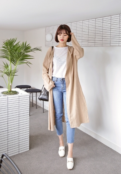 No Button Long Cardigan