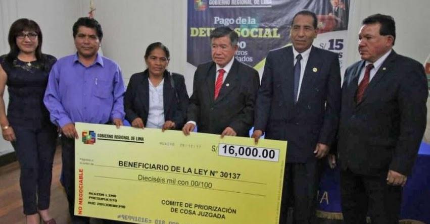 Iniciaron pago Deuda Social 2017 a 1,600 docentes en la Región Lima [CRONOGRAMA]