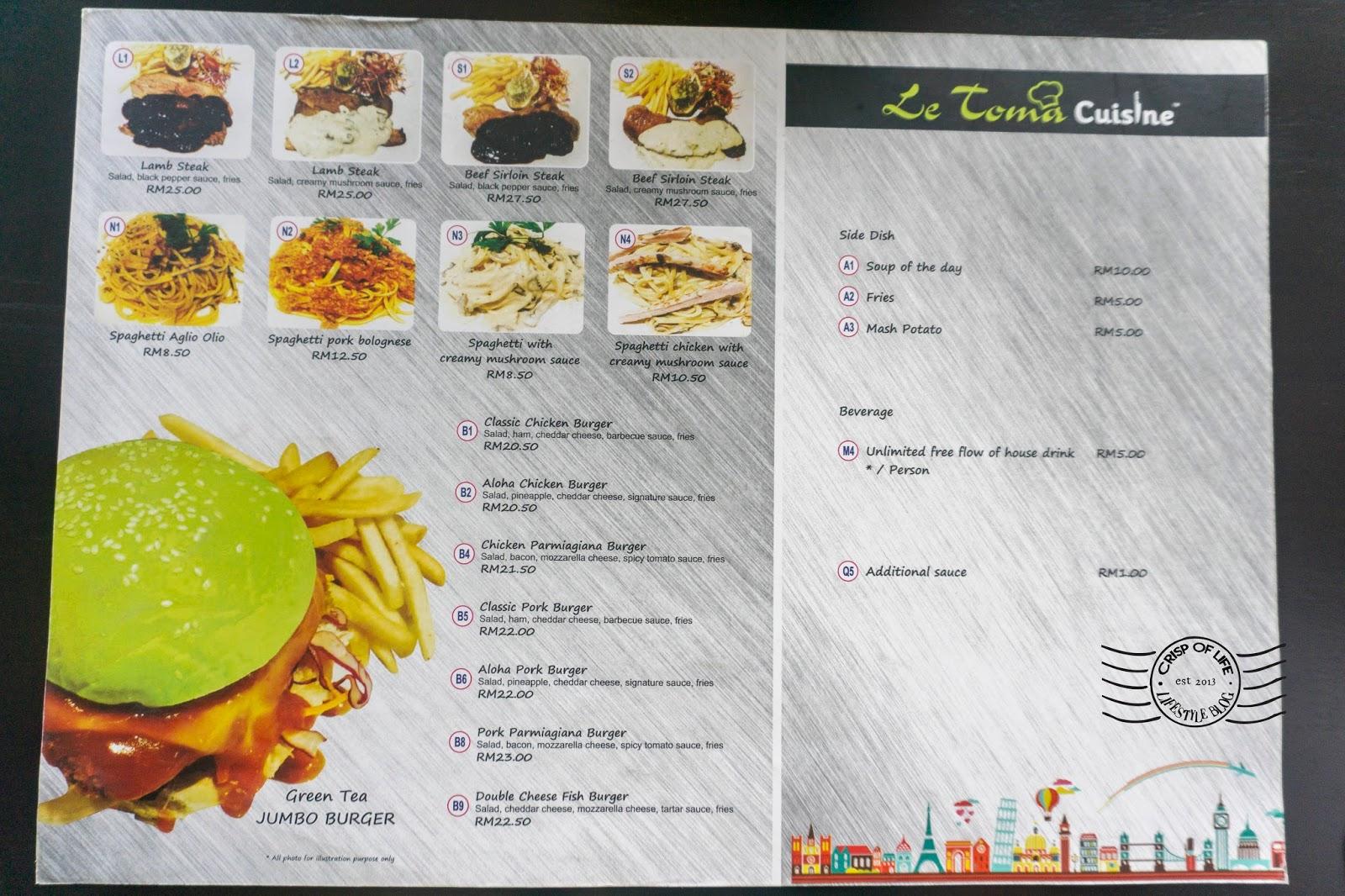 Le Toma Cuisine @ Automall & Jalan Van Praagh, Penang