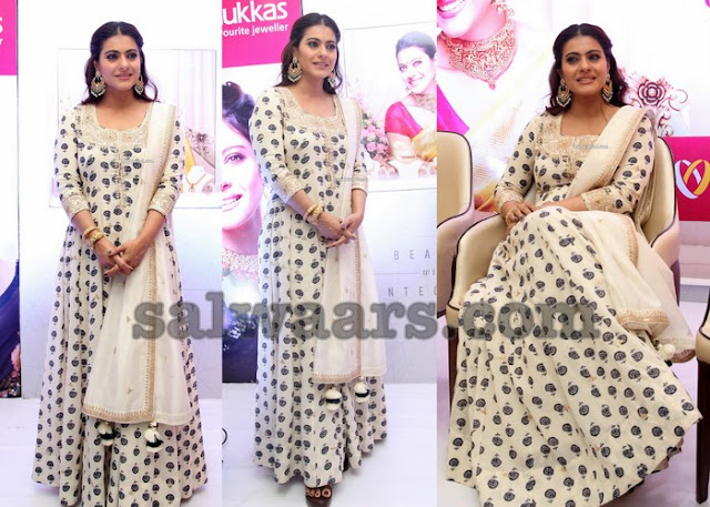 Kajol Off White Printed Salwar