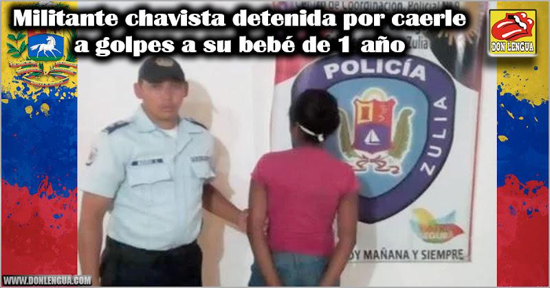Militante chavista detenida por caerle a golpes a su bebé de 1 año