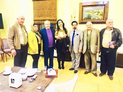 تكريم الشاعرة هدى غازي تقديراً لعطاءاتها الغزيرة وأخلاقها الرفيعة