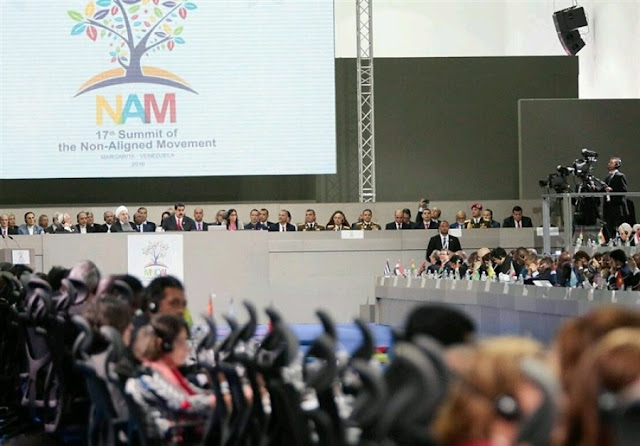 Image Attribute:  The 17th summit of the Non-Aligned Movement (NAM) at Venezuela's Margarita Island / Source: Tasnim News Agency / Creative Commons Attribution 4.0 International License.