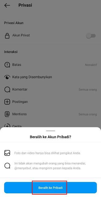 Cara Mengubah Akun Instagram Menjadi Akun Private dengan Mudah