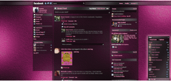 tema facebook - dark shiny pink static, transparency
