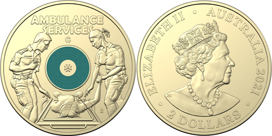 Australia 2 dollars 2021 - Australian Ambulance Service