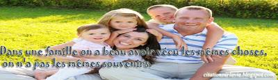 Phrase sur la vie et la famille