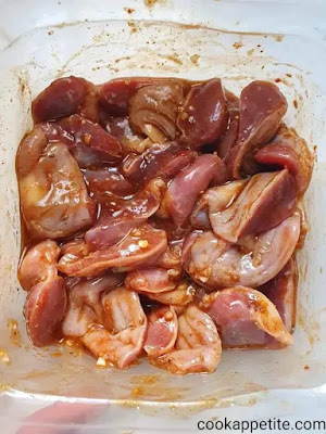 Some chefs start by giving chicken gizzards a buttermilk bath to remove their chewy texture. If you love the chewy texture of gizzards then you don't have to give them a buttermilk bath. I on one love the chewiness of gizzards
